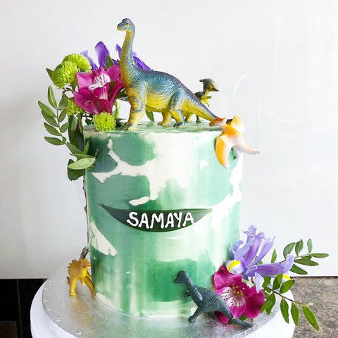 Dinosaur Buttercream Cake (From £95)
