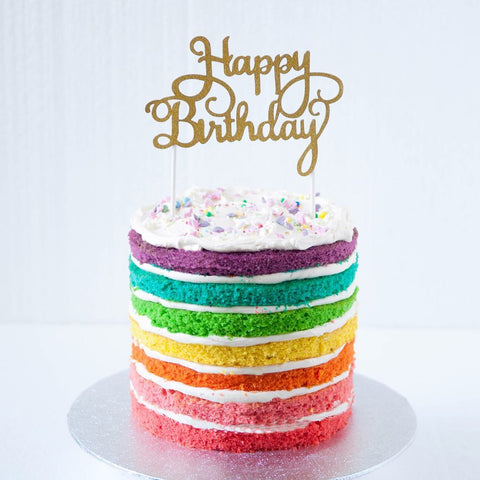 Rainbow Naked Cake (From £80)