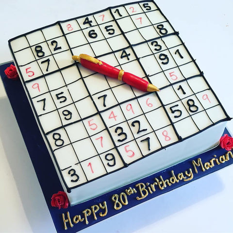 Sudoku Buttercream Cake with Fondant Element (From £100)