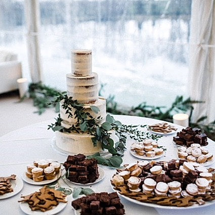 Wedding cake and pastries