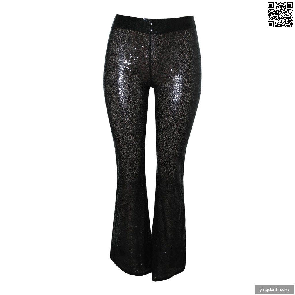 Women Casual High Waist Flare Pants - yingdanli.1