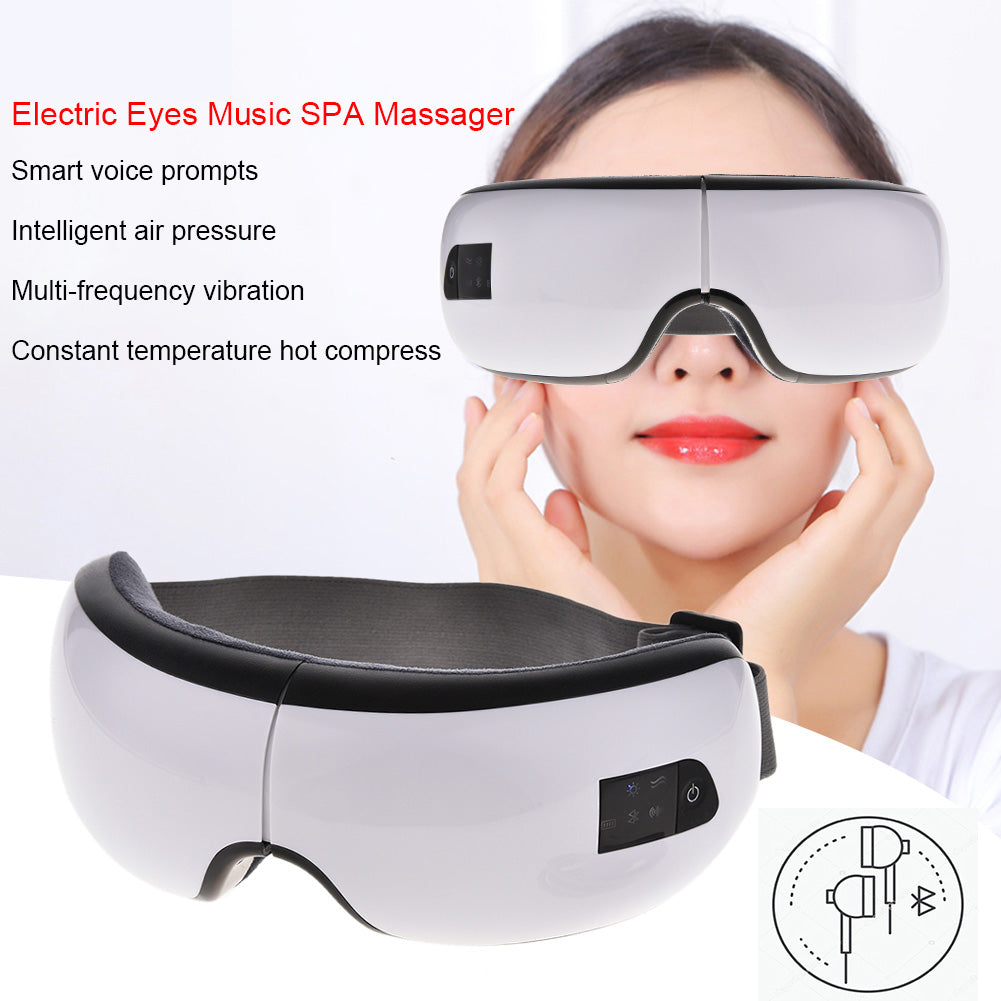 Foldable Eye Massager with Bluetooth Wireless USB Rechargeable mode