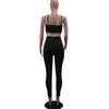 Image of Women's Solid Color  Bodycon Yoga Two Pieces Set - yingdanli.1