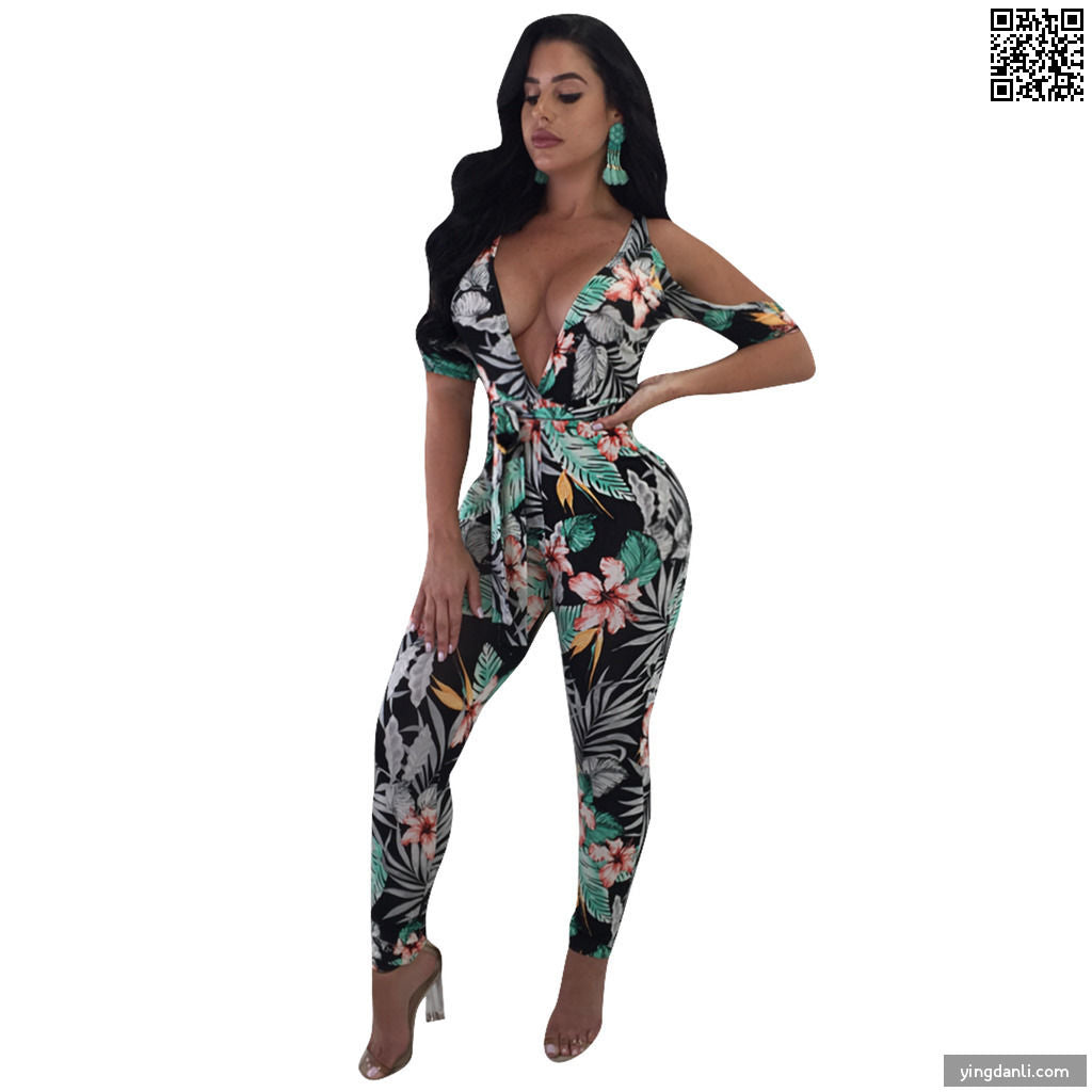 Women Fashion Sleeveless Backless Short Jumpsuit Rompers - sportinglifes