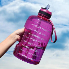 Gallon Water Bottle with Straw Clear Plastic Drinking Bottles - yingdanli.1