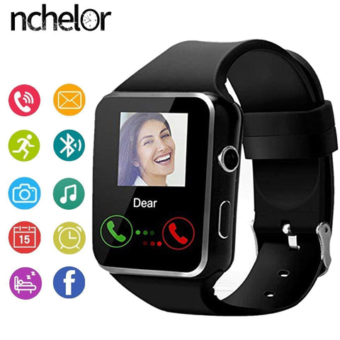 X6 Touch Screen Smart Watch  With Camera Support SIM TF Card - yingdanli.1