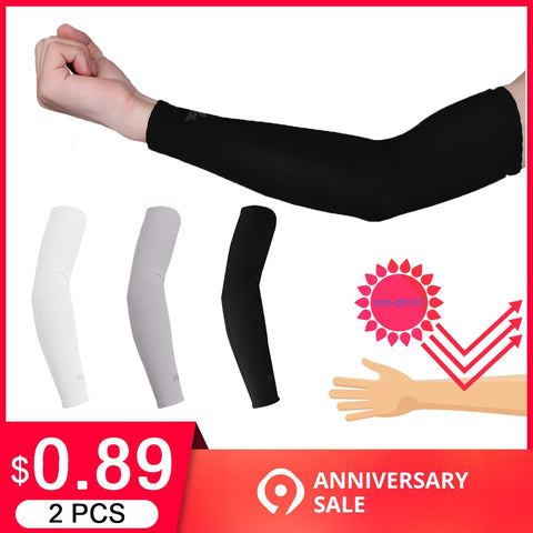 2 Pcs Long Arm Sleeves for Outdoor Running Golf Cycling Summer - yingdanli.1