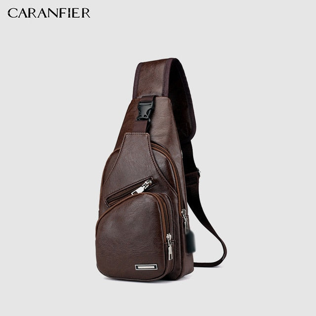 Classic Solid Color PU Leather Casual Travel Crossbody Bag - yingdanli.1