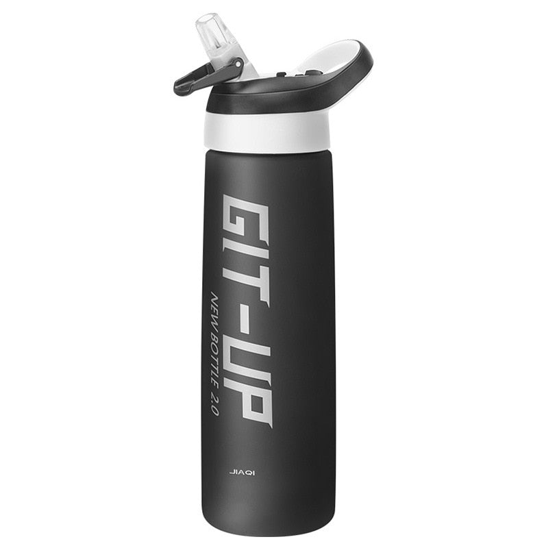 Brand Sport Water Bottle 1000ml Bpa Free Plastic Bottles for Water with Straw - sportinglifes