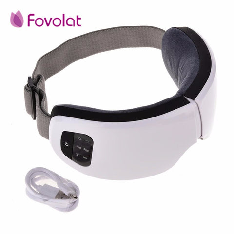 Portable Eye Massage 6S Wireless USB Rechargeable Bluetooth Foldable Eye Massager