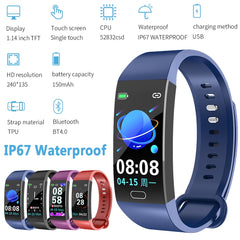 RD11 Color Screen Smart Bracelet Heart Rate Blood Pressure Sleep Monitor Bluetooth IP67 Sports Watch for IOS for Android - yingdanli.1