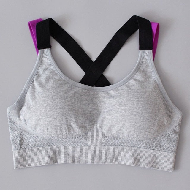 TopPick Sport Shirt Women Running Sport T-shirt Gym Shirt Yoga Top Sports Bra - sportinglifes