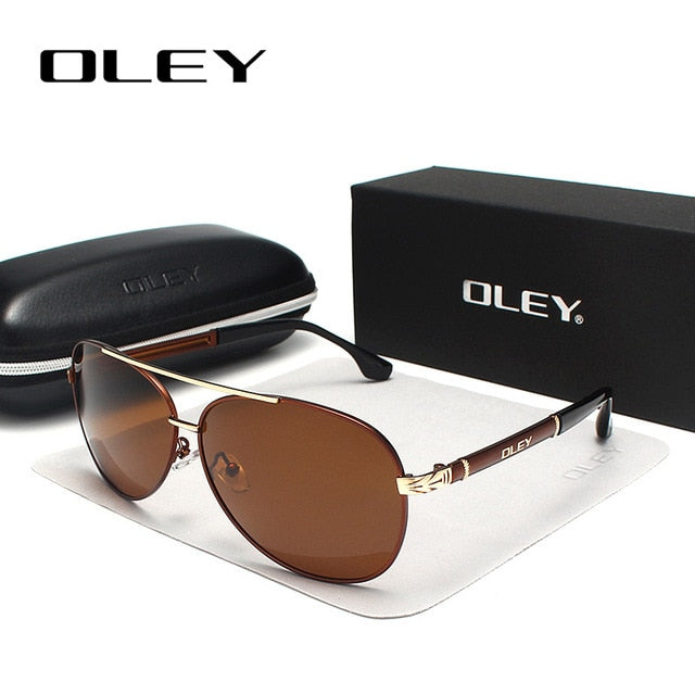 OLEY Brand Sunglasses Men Polarized Fashion Classic Pilot Sun Glasses Fishing Driving Goggles Shades For Men/Wome Y7005 - yingdanli.1