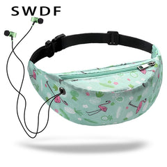 3D Colorful Print women waist Bags - sportinglifes
