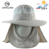 Image of Sun UV Protection Face Mask Wide Brim Hiking Sun Hat - sportinglifes