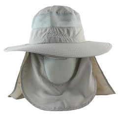 Sun UV Protection Face Mask Wide Brim Hiking Sun Hat