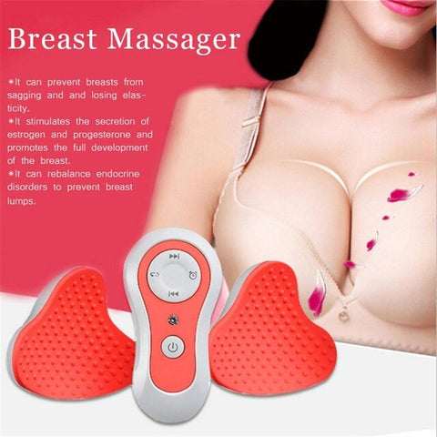 Electric Portable Vibration Chest Massager Breast Enhancement Massage - yingdanli.1