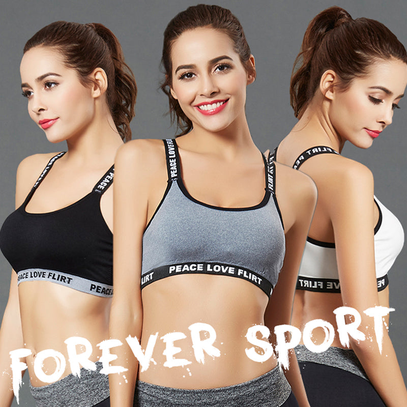 Gym Running Push Up Top Female Sport Bra - yingdanli.1