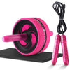 Image of Ab Roller with Mat For Arm Waist Leg Exercise Gym Fitness Equipment - sportinglifes