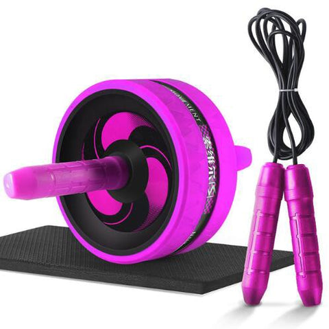 Ab Roller with Mat For Arm Waist Leg Exercise Gym Fitness Equipment - yingdanli.1