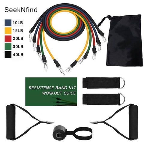 Resistance Bands Set Expander Tubes Rubber Band Stretch Training for Home Gyms Workout - yingdanli.1