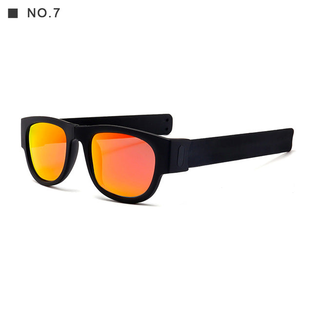 New Circle Round  Polarized For Men and Women Outdoor Fold Sun Glasses - sportinglifes