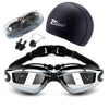Image of 5 in 1 swim goggles set Anti Fog UV waterproof prescription glasses - sportinglifes