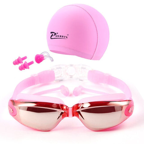 5 in 1 swim goggles set Anti Fog UV waterproof prescription glasses - yingdanli.1