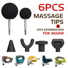 6Pcs 75mm Muscle Relaxation Massage Gun Attachments - sportinglifes