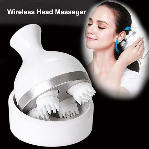 Wireless Scalp Massager Prevent Hair Loss Body Deep Tissue Kneading Vibrating Health Care - yingdanli.1
