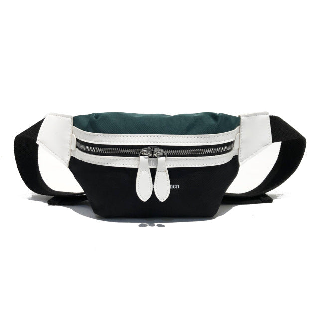 Women  Canvas Leisure Panelled Chest Crossbody bag - sportinglifes