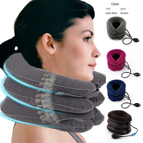 3-Layer Inflatable Cervical Pillow Massager