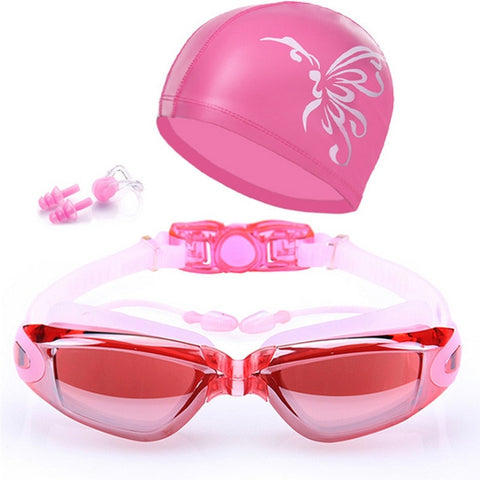 Swimming goggles HD Anti-Fog 100% UV adjustable glasses belt Professional - yingdanli.1