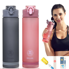 Sports Water Bottle With Straw - sportinglifes