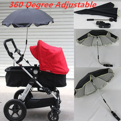 Nylon Anti-UV Sun Canopy Cover 360 Adjustable Pram Umbrellas with Stretch Stand Holder - sportinglifes