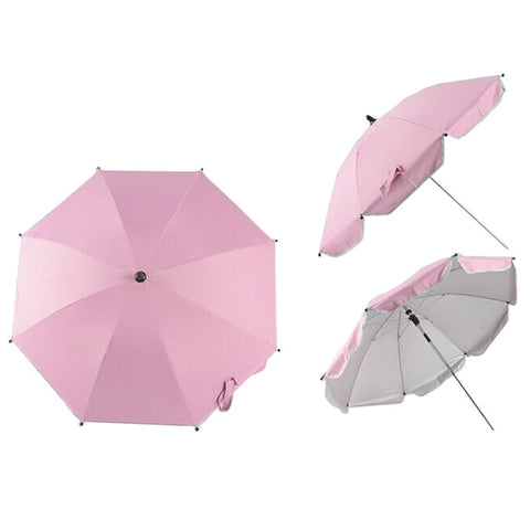 Nylon Anti-UV Sun Canopy Cover 360 Adjustable Pram Umbrellas with Stretch Stand Holder - yingdanli.1