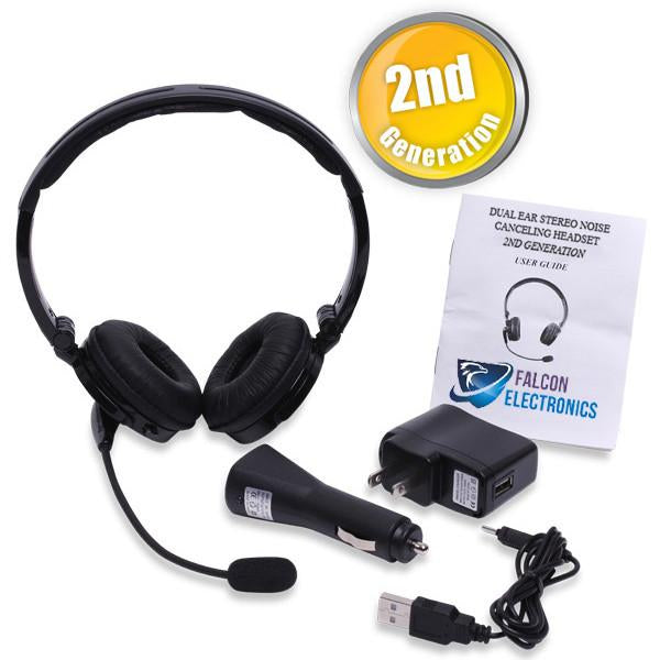 TRUCKER Over the Head Dual Ear Stereo Noise Canceling Headset! FREE Same Day Shipping! - FalconEye Trucker Dash Cams  - 7