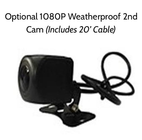 Additional 1080P Waterproof 2nd Cam for 2nd Gen Prime 1-2 Cam Dashcam