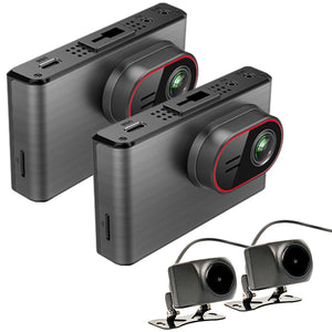 2nd Gen 4K Quad (4) Pinnacle Touch Screen WIFI Dash Cam System