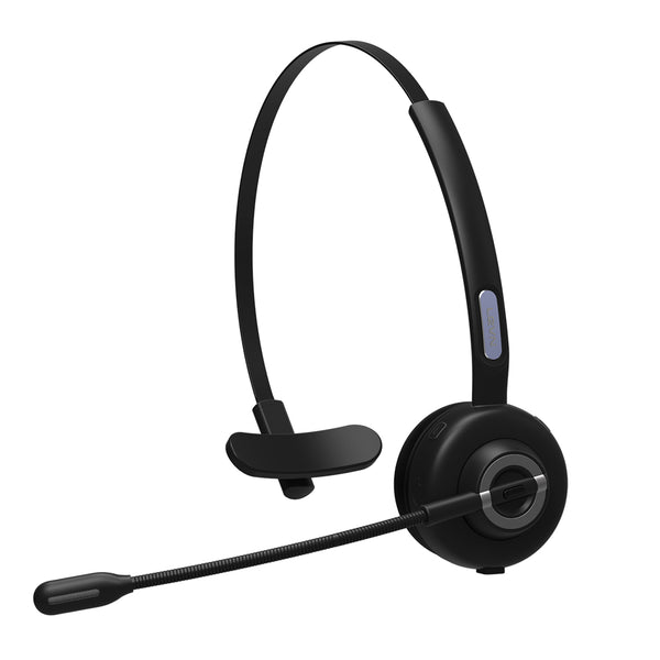 Top Dawg TRUCKER Single Ear Stereo Bluetooth Noise Canceling Headset - Incredible Noise Cancellation Technology