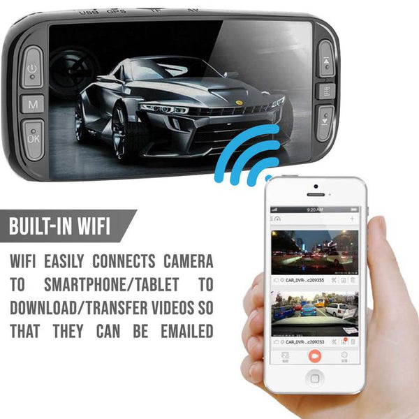 4K Pinnacle Touch Screen WIFI/GPS Dash Cam