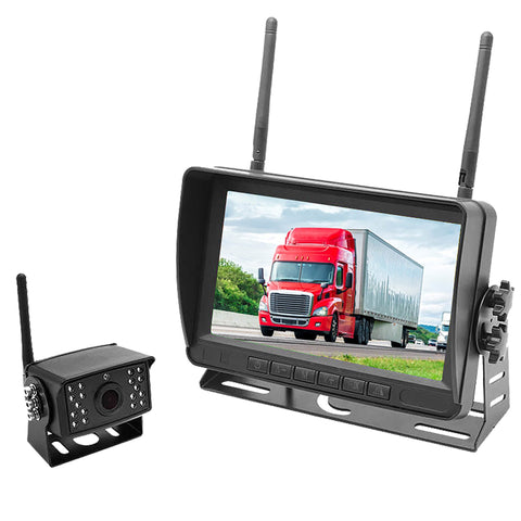 "2nd Generation Wireless Backup Camera for Trucks, Fleets. HD, 7"" LCD, 200-300' Wireless"