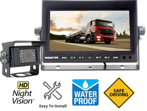 "Wired Heavy Duty Backup Camera System with 7"" LCD! Optional 2nd Cam Available!"