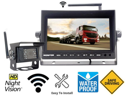 "Digital Wireless Heavy Duty Backup Camera with 7"" LCD Monitor"