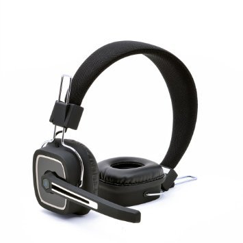 Top Dawg Prime 2 HiFi Stereo Over the Head Bluetooth Headset (BLACK)