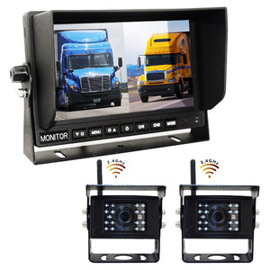 DIGITAL WIRELESS Heavy Duty Backup System With 2-4 Cameras with 7in LCD!
