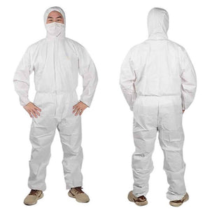 Disposable Full Body Protective Hooded Suit Cloth Coveralls