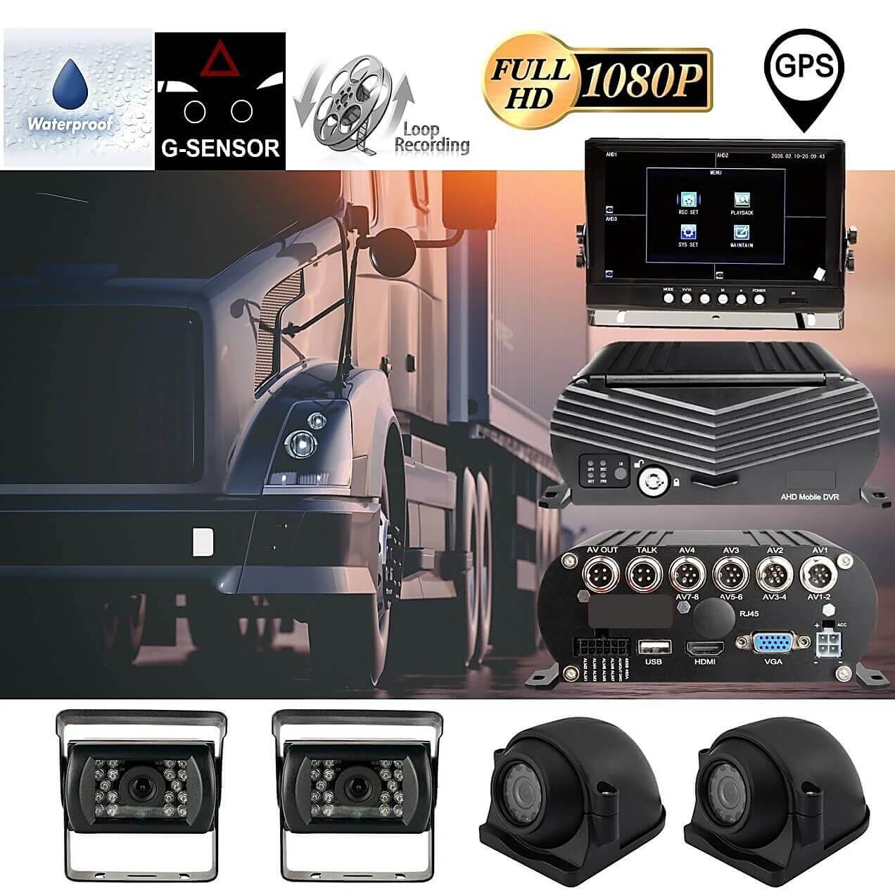 MDVR 1080P BlackBox 4-8 Cam DVR System with HDD Drive, GPS & More! 2nd Generation Model
