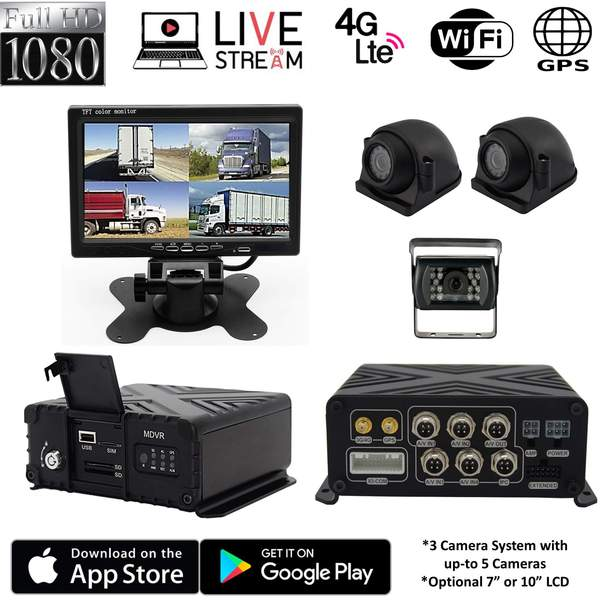 4G MNVR 3-5 Camera DVR with LIVE REMOTE VIEWING