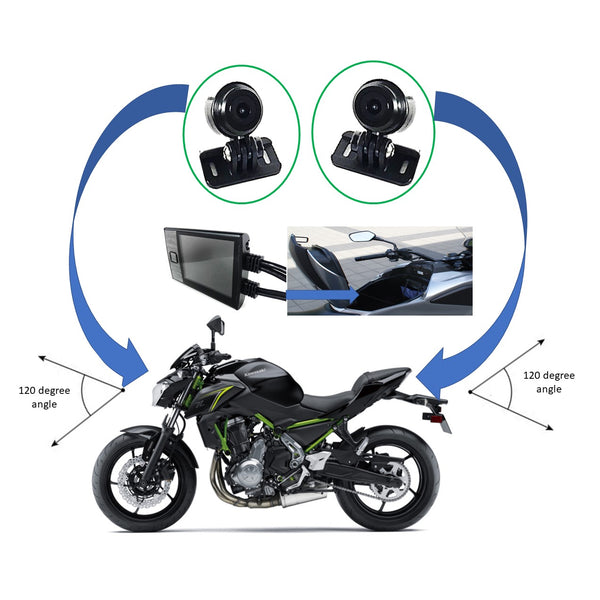 MotoProCam Dual Camera WiFi 1080P Motorcycle DVR Camera System